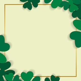 Clover framed card