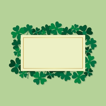 Clover framed card