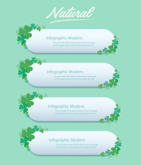 Clover leaf info graphic background vector