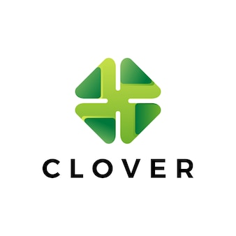 Clover leaf logo icon illustration