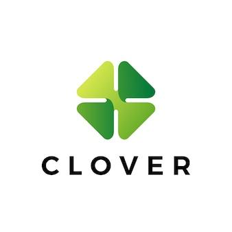 Клевер листья логотип значок иллюстрации