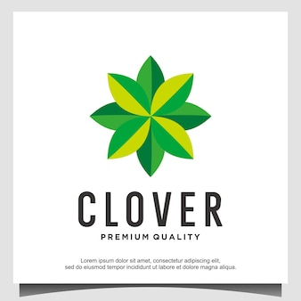 Клеверный лист логотип вектор