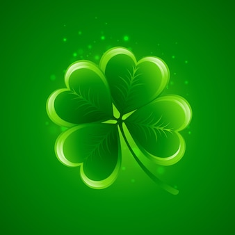 Clover leaf. saint patricks day.  illustration.