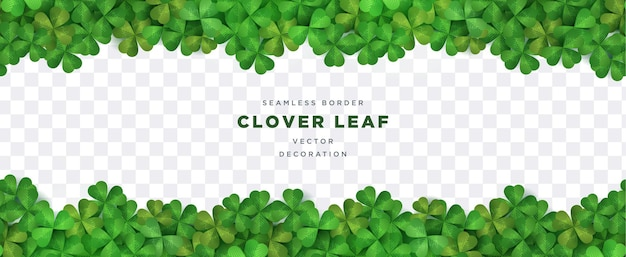 Clover leaf seamless border  for st patrick's day