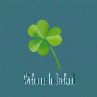 Clover leaf for travel to ireland vector illustration