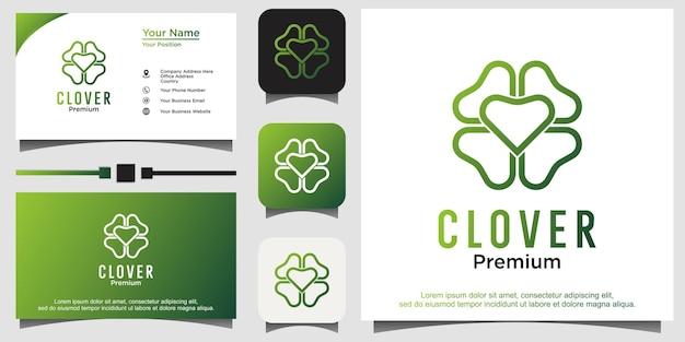 Клеверный лист с дизайном логотипа