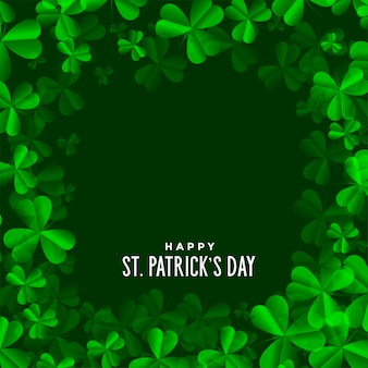 Clover leaves background for saint patricks day