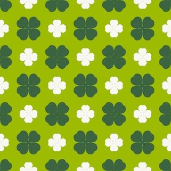 클로버 잎 원활한 패턴 해피 세인트 패트릭의 날 디자인