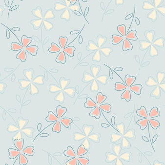 Clover leaves seamless pattern.