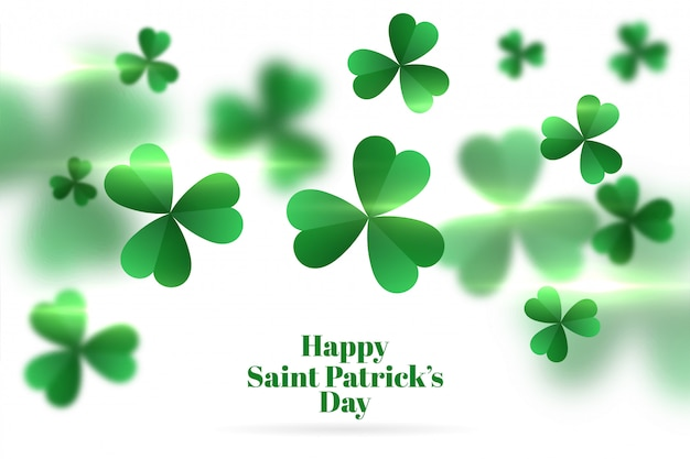 Clover leavs happy saint patricks day background