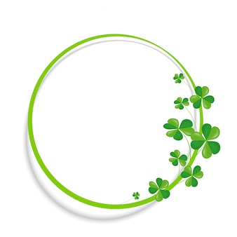 Clover and rounded banner