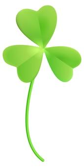 클로버 토끼풀. 행운을 위해 녹색 클로버 잎. 만화 삽화