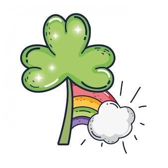 クローバーは虹の聖パトリックのお祝いを葉します。