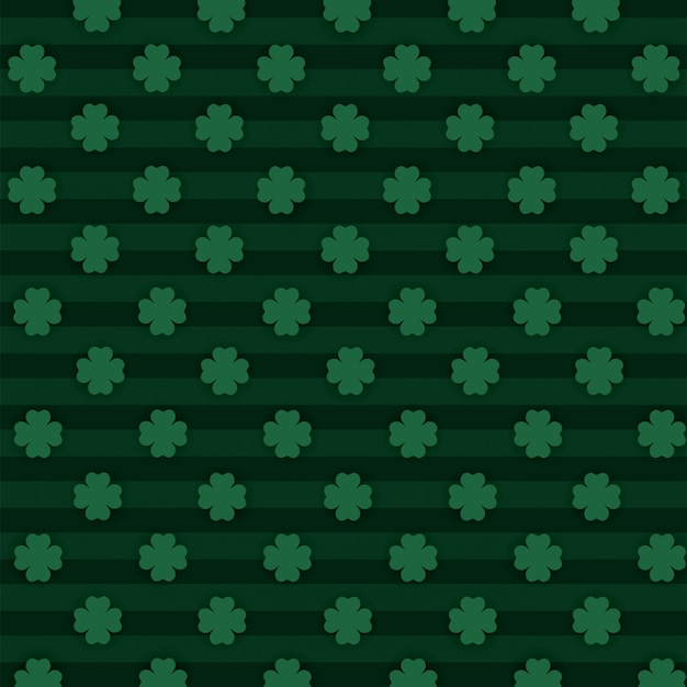 Clovers plants with lines textures background