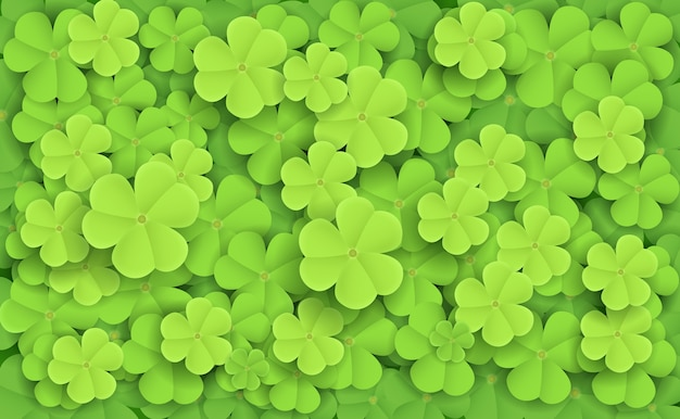 緑の新鮮なcloversのイラスト