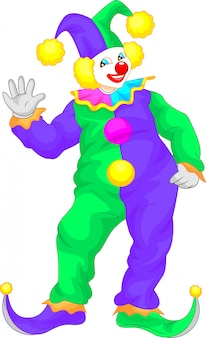 Clown cartoon waving