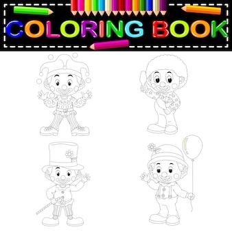Clown coloring book