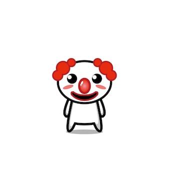 Clown cute character vector design face joker art