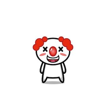Clown cute character vector design face joker