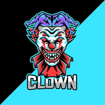 Clown esport mascot logo