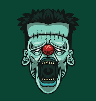 Clown head illustration