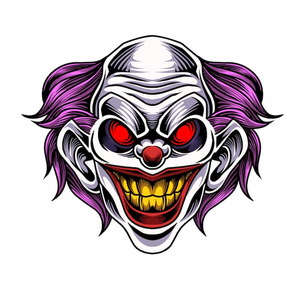 Clown head mascot logo