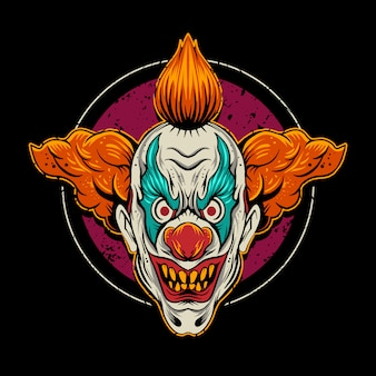 Clown  illustration with circle