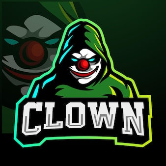 Clown mascot esport logo design