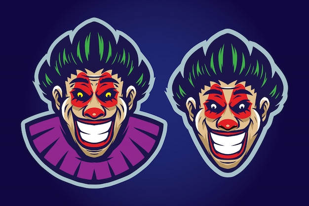 Clown mascot set
