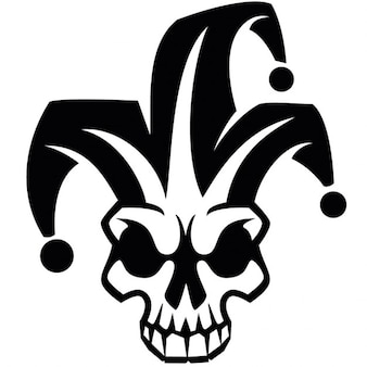 Clown skull harlequin vector image