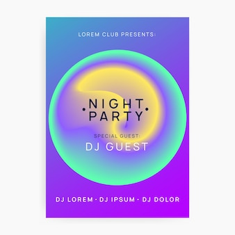 Club flyer. modern electro poster. wave effect for set. dance and exhibition shape. dynamic background for presentation design. rainbow club flyer