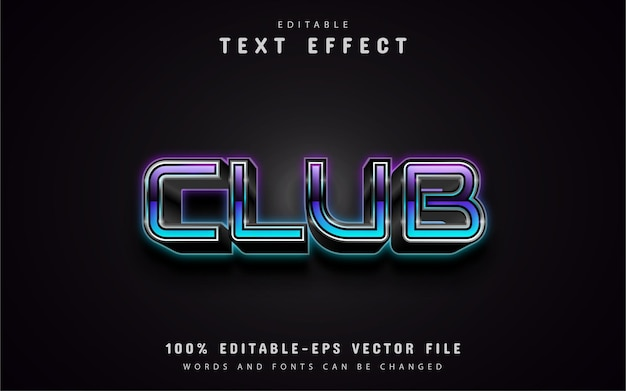 Club gradient text effects