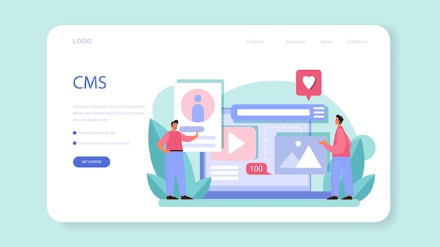 Cms introduction web banner or landing page