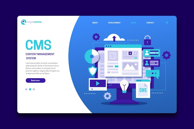 Cms landing page template