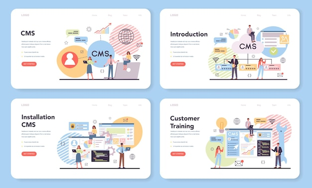 Cms web banner or landing page set