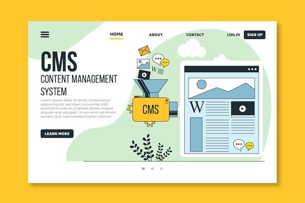 Cmsウェブテンプレートフラットデザイン