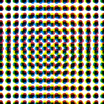 Cmyk abstract dots background