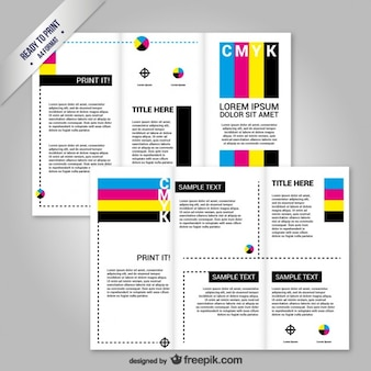 CMYK Brochure template
