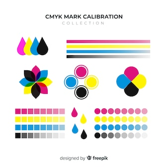 Cmyk calibration element collection