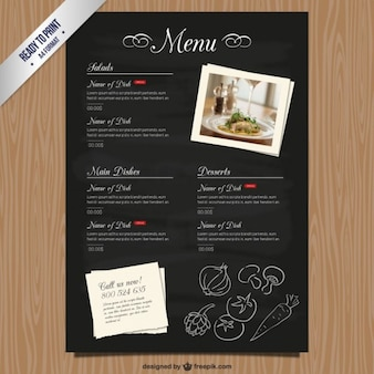 Cmyk Restaurant menu template
