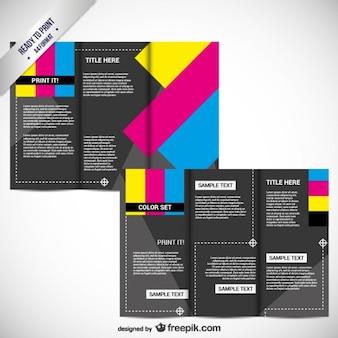 Cmykの印刷用パンフレット
