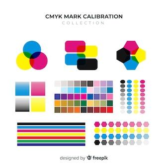 Коллекция калибровочных элементов cmyk