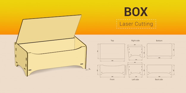 Cnc. laser cutting box.