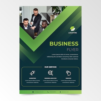 Co-workers company business flyer template