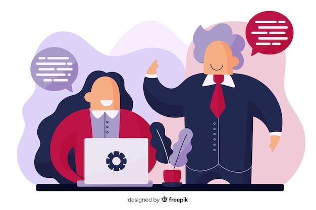Концепция сотрудников для целевой страницы