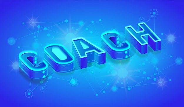 Coach 3d isometric word