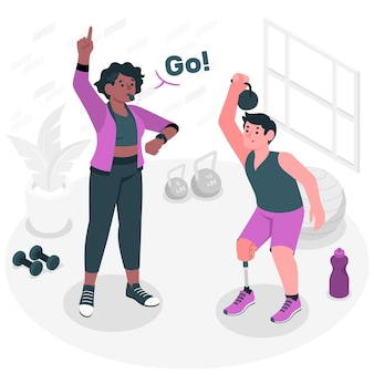 Coachconcept illustration