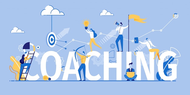 Coaching banner marketing and advertising training