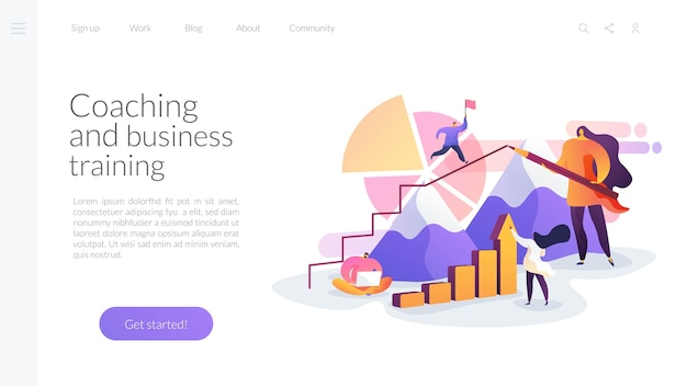 Coaching and business training landing page template
