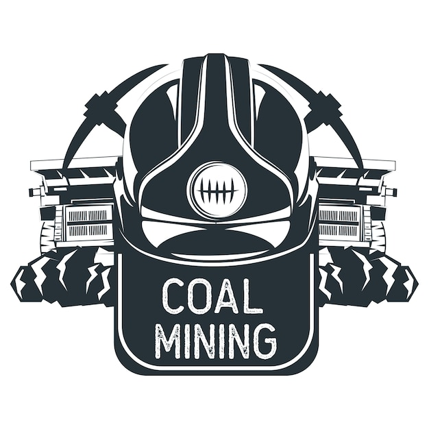 Coal mining insignia. vector illustration